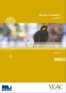 Yellingbo Investigation Final Report
